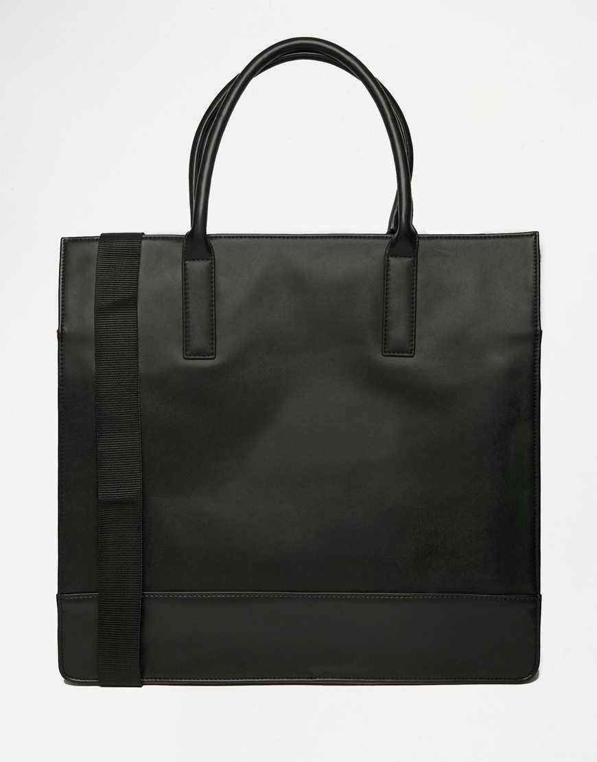ASOS Structured Tote Bag With Contrast