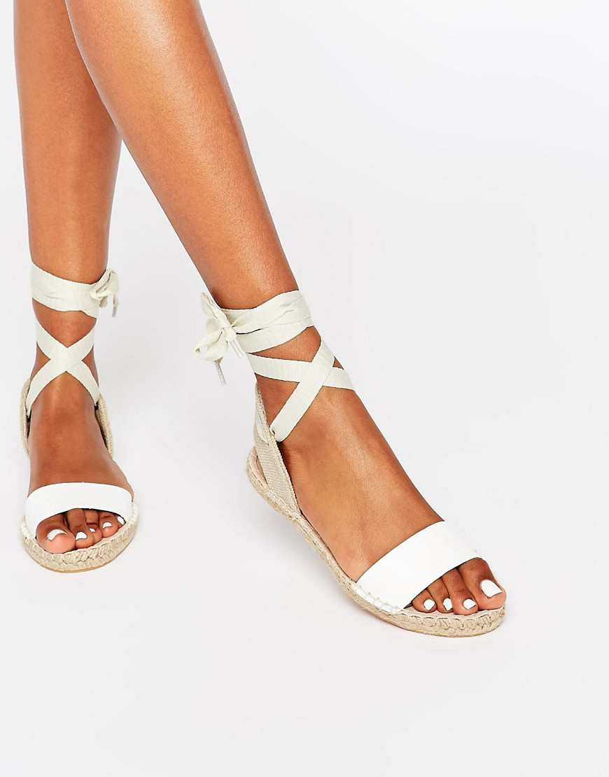 New Look Espadrille Tie Up Flat Sandal