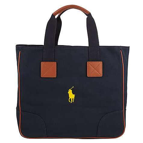 Polo Golf by Ralph Lauren Cotton Canvas Tote Bag, Aviator Navy
