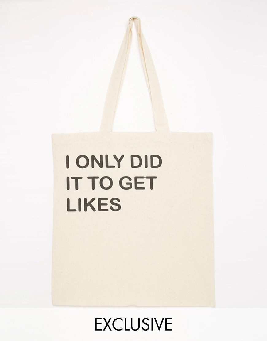Reclaimed Vintage Did It To Get Likes Tote Bag