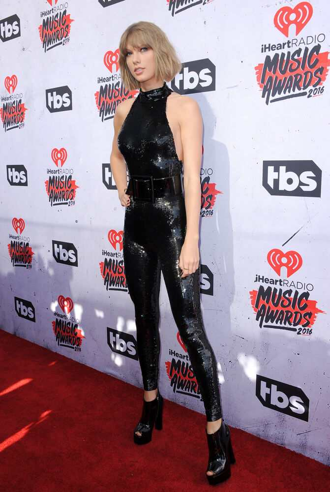 Taylor Swift looks sultry in her Saint Laurent catsuit TheFuss.co.uk