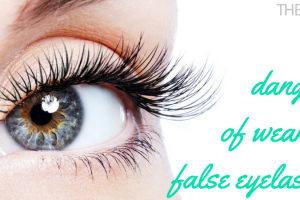 The dangers of wearing false eyelashes