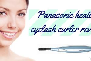 Panasonic heated eyelash curler review TheFuss.co.uk