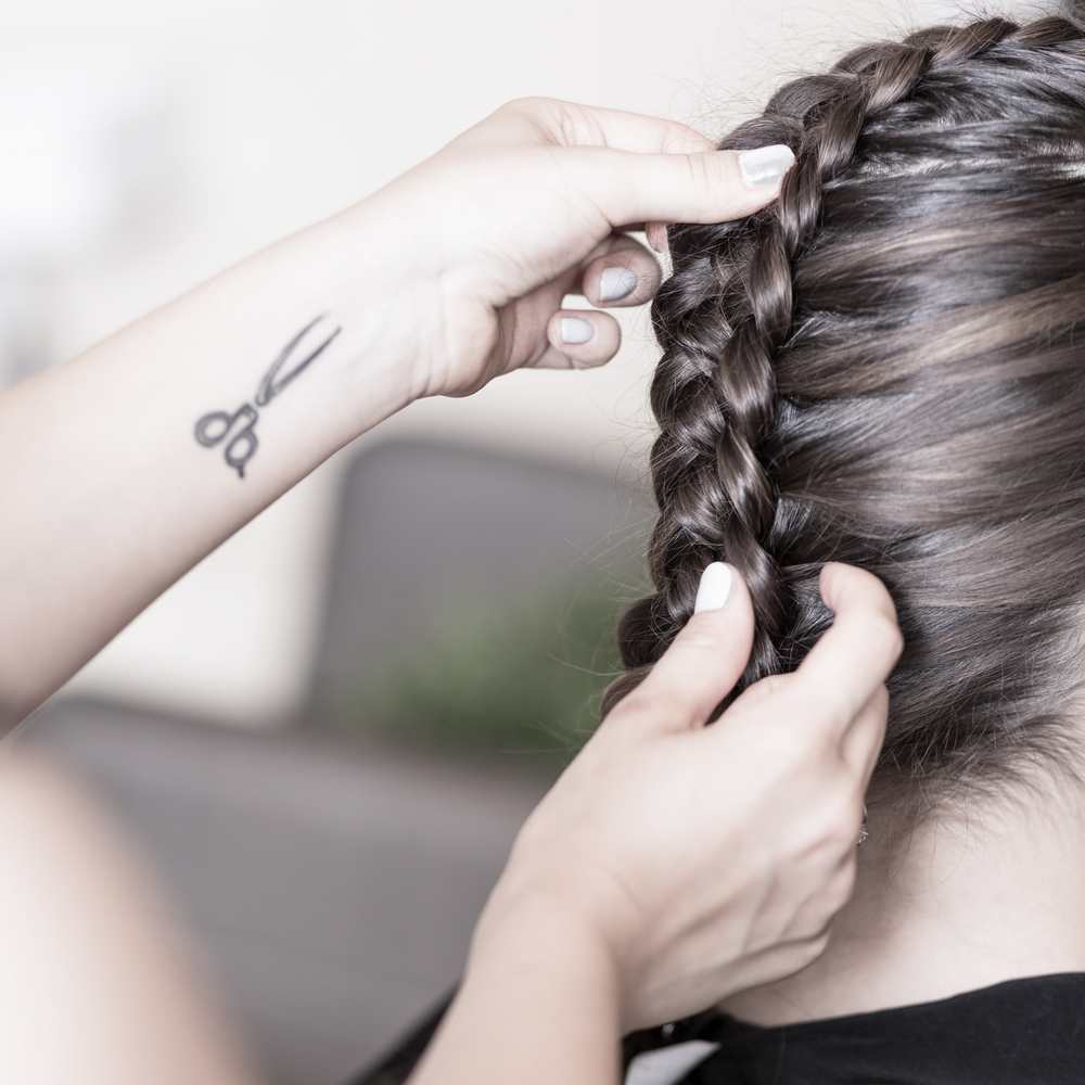 Dutch braid hairstyle TheFuss.co.uk