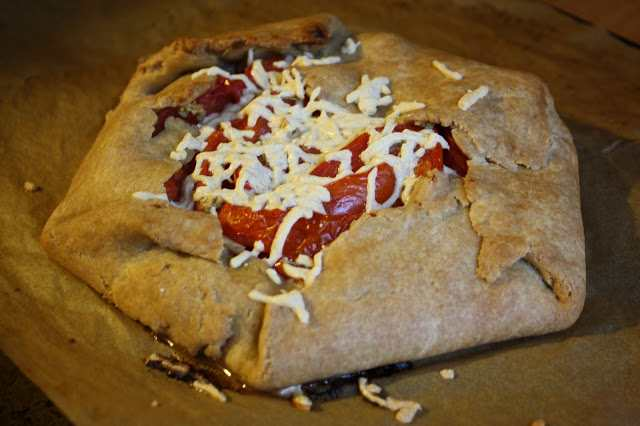The Vegan Chickpea tomato galette