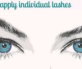 How to apply individual lashes TheFuss.co.uk