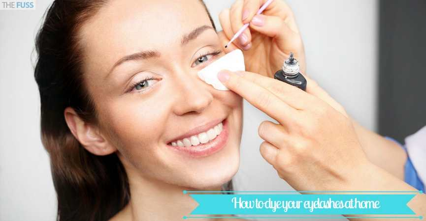 How to dye your eyelashes at home TheFuss.co.uk