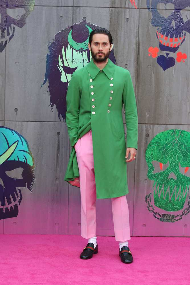 Jared Leto channels the Joker at the Suicide Squad premiere wearing Gucci TheFuss.co.uk
