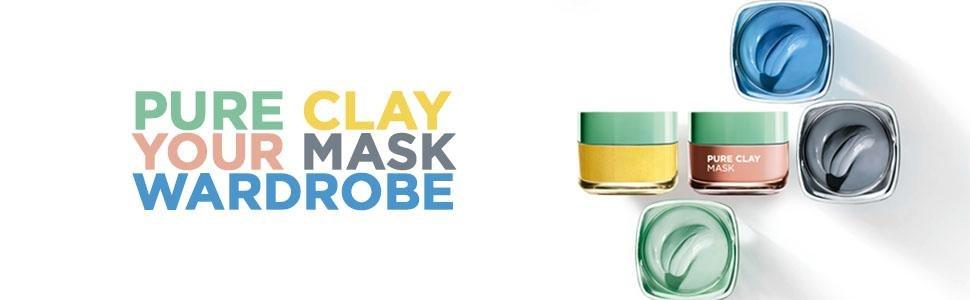 L'Oreal Pure Clay Mask Range