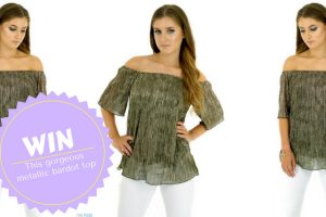 Win a gorgeous metallic bardot top from Mandi Candi TheFuss.co.uk