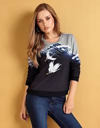 YUMI PRINT EMBROIDERED SWEATSHIRT