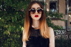 Black dip dye hair tips and celebrity hair inspiration TheFuss.co.uk