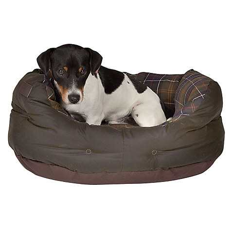 Barbour Waxed Cotton Dog Bed