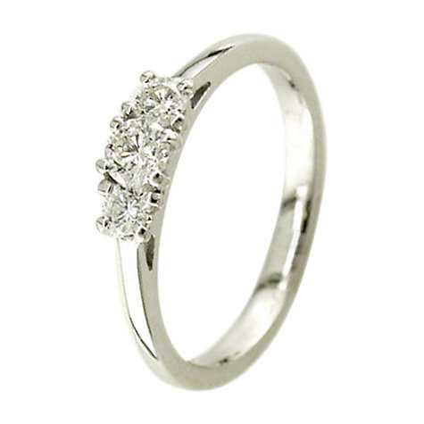 EWA 18ct White Gold 0 38ct Triple Diamond Engagement Rin