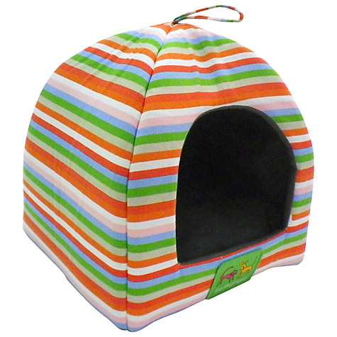 Fred Ginger Striped Cat Bed Hideaway