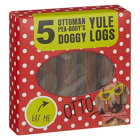 Ottoman Pea Bodys Yule Log Dog Treats