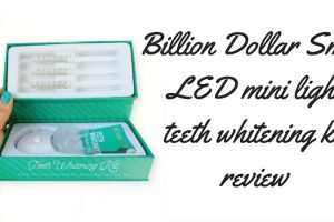 Billion Dollar Smile LED Mini Light Teeth Whitening Kit Review TheFuss.co.uk