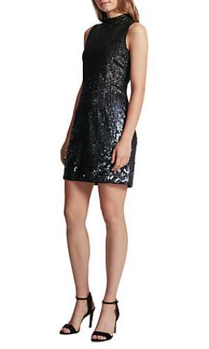 French Connection Sparkle High Neck Dress