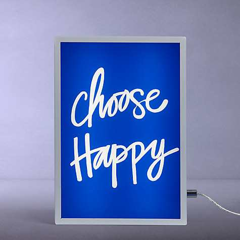John Lewis Choose Happy Small LED Light Box