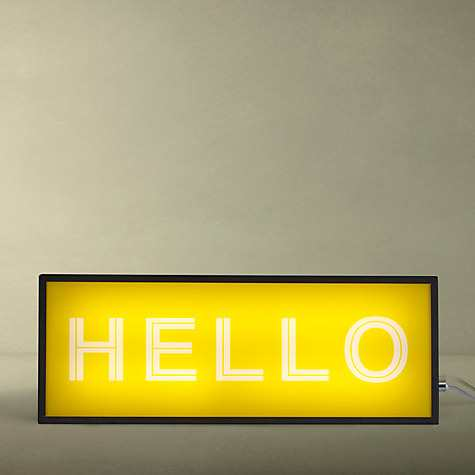 John Lewis Hello Medium LED Light Box