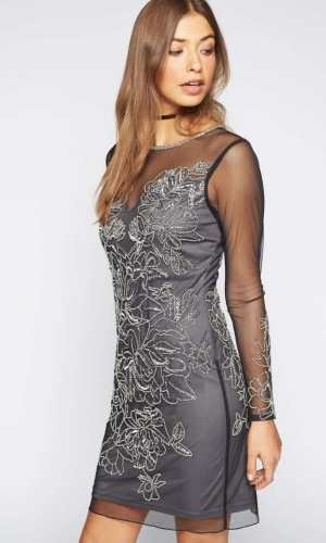 Miss Selfridge PREMIUM Black Kim Bodycon Dress