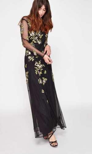 Miss Selfridge PREMIUM Floral Embellished Maxi Dress