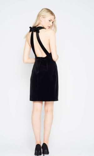 Miss Selfridge PREMIUM Velvet Bow Back Dress