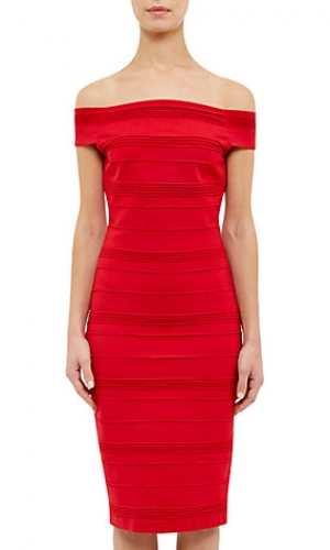 Ted Baker Inan Stripe Texture Bardot Dress