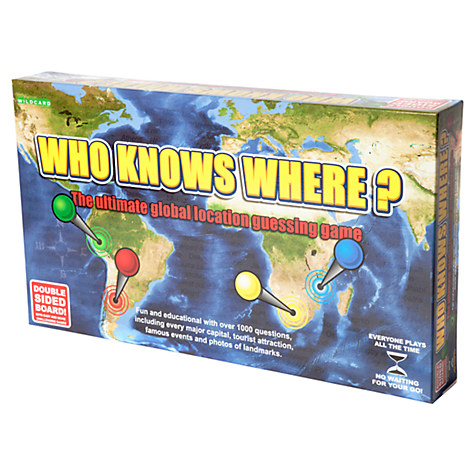 Who Knows Where Global Location Guessing Board Game