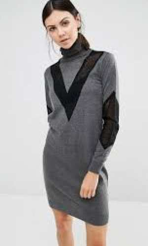 Y A S Tall Mari Roll Neck Jumper Dress
