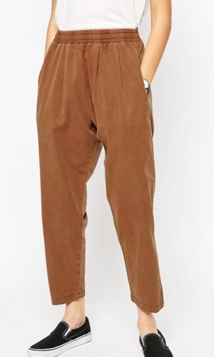 ASOS Washed Tapered Peg Trousers