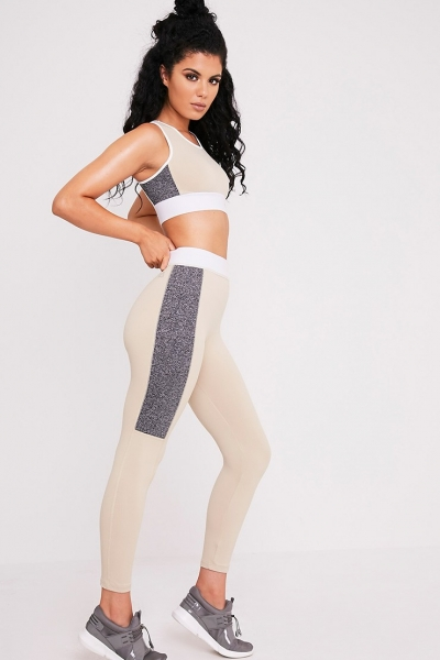 Pretty Little Thing ISADORA STONE PANELLED GYM LEGGINGS
