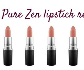 MAC Pure Zen Lipstick Review TheFuss.co.uk