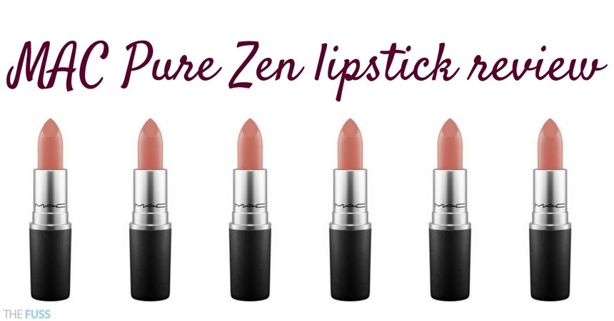 MAC Pure Zen Lipstick Review TheFuss.co.uk