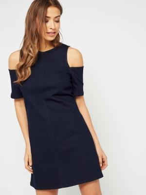 Miss Selfridge Cut Out Denim Dress