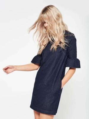 Miss Selfridge Flute Sleeve Denim Dress