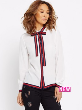 Myleene Klass Tape Trim Button Blouse