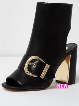 River Island Western Buckle Shoeboot