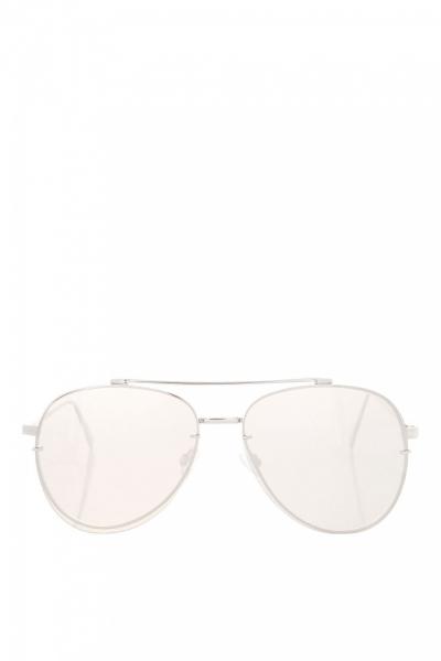 Topshop ATTITUDE Flat Lens Silver Sunglasses
