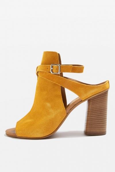 Topshop NICO Suede Shoe Boot Heels