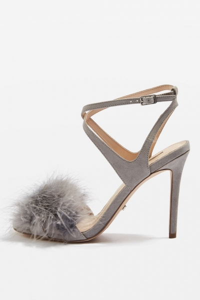 Topshop REINE Feather Heeled Sandals