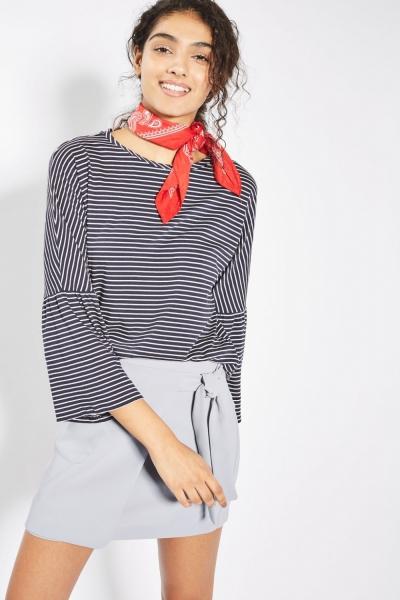 Topshop Utility Wrap Tie Mini Skirt