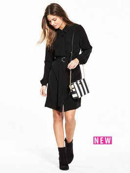 V By Very Long Sleeve Shirt Dress