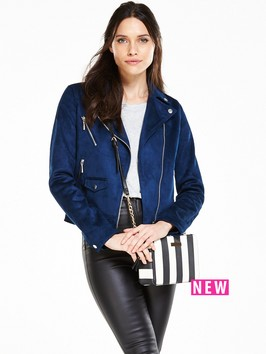 V By Very Suedette Biker Jacket