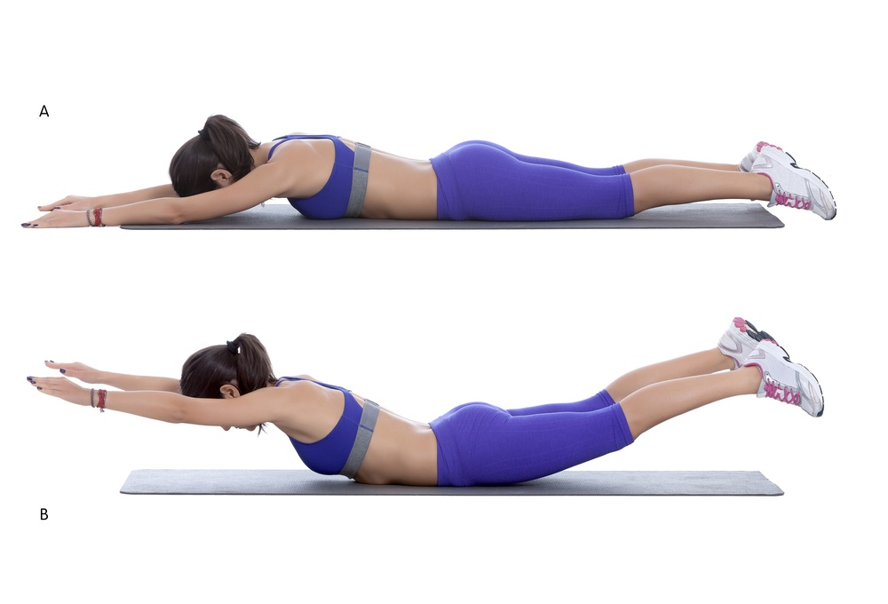 The Superman exercise is great for targeting the lower back TheFuss.co.uk