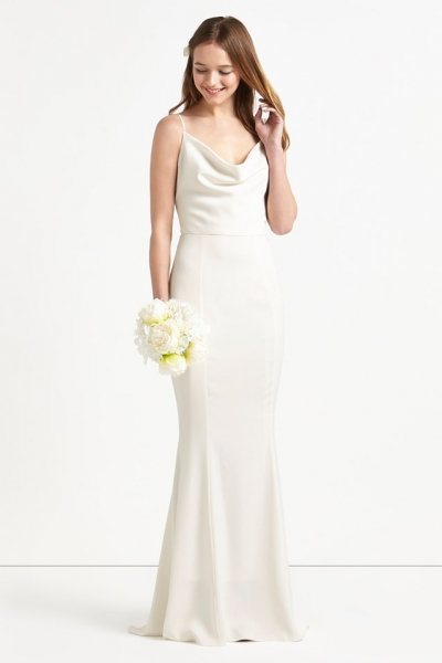Lipsy bridal everything you bridesmaids guests need for Satin cowl neck wedding dress