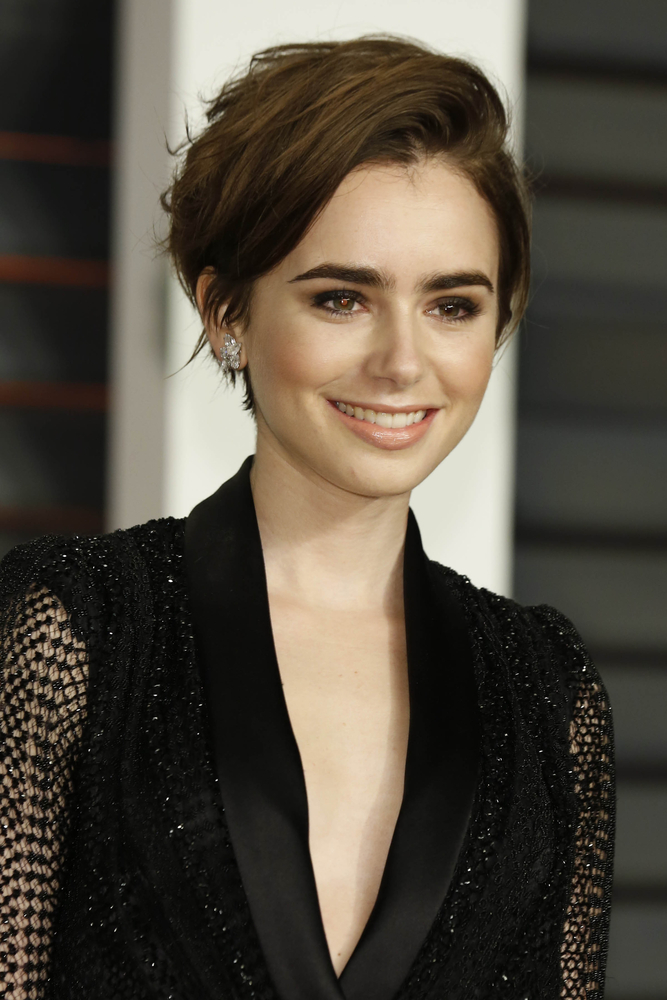 Lily Collins best hair looks TheFuss.co.uk