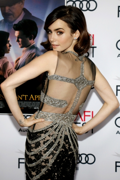 Lily Collins AFI Opening Night Tinseltown Shutterstock Com 2