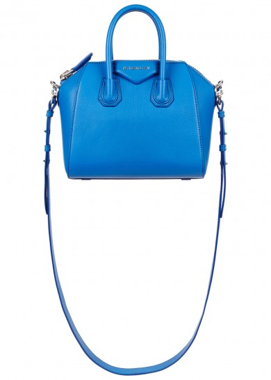 Givenchy Antigona Mini Blue Leather Tote