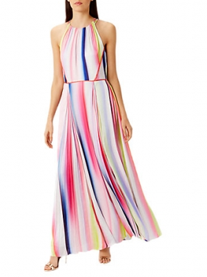 Coast Lisbon Striped Maxi Dress